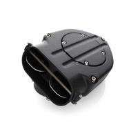Kuryakyn K9980 Blood Groove Hypercharger Wrinkle Black 99-06 Twin Cam & EFI