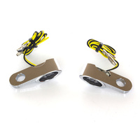 Kodlin KM-K68488 Elypse Under Perch Turn Signals Chrome for most Models w/Cable Clutch