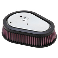 K&N HD-0808 High Flow Air Filter Element Screamin' Eagle Dyna 08-up Running S/E Air Filter