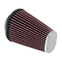 K&N RC-3680 Aircharger Air Filter Element End Cap (Oval Tapered) Chrome