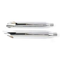 "Khrome Werks KW202360 3"" HP-Plus Slash Cut Slip-On Mufflers Chrome for Softail Deuce 2007/Fat Boy 07-17"