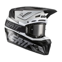 Leatt 2021 Moto 8.5 Helmet & Goggle Kit V21.1 Black/White