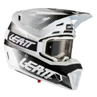 Leatt 2021 Moto 7.5 Helmet & Goggle Kit V21.1 White