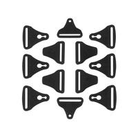 Leatt Buckle Kit for C-Frame Carbon Knee Brace (Pair)