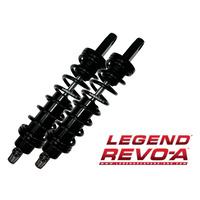 "Legend 1310-1099 Revo-A 14"" Heavy Duty Adjustable Rear Shocks Black FXD'91up"