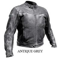 Rjays Aviator Leather Jacket Antique Grey