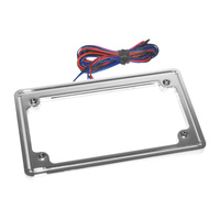 Letric Lighting LLC-PPL-C Perfect Plate Light License Plate Frame Chrome
