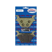 Lyndall Racing Brakes LRB-7058-G Gold-Plus Brake Pads for Rear on Big Twin 87-99/Sportster 87-99