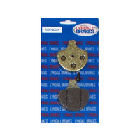 Lyndall Racing Brakes LRB-7059-G Gold-Plus Brake Pads for Front on Big Twin 84-99/Springer Softail 88-Up/Sportster 84-99