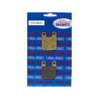 Lyndall Racing LRB-7153-G Gold-Plus Series Brake Pads for PM Caliper 125 x 4SL or 125x45 (Pair)