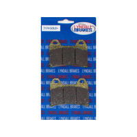 Lyndall Racing LRB-7174-G Gold-Plus Series Rear Brake Pads for Integrated PM Caliper Softail (req 1 Pair) Victory Models