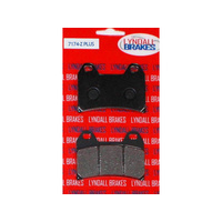 Lyndall Racing LRB-7174-Z Z-Plus Series Rear Brake Pads for Integrated PM Caliper Softail (req 1 Pair) Victory Models