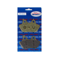 Lyndall Racing Brakes LRB-7195-G Gold-Plus Brake Pads for Front Rear on Big Twin 00-07/Sportster 00-03/V-Rod 02-05