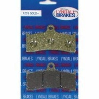 Lyndall Racing LRB-7202-G Gold-Plus Series Brake Pads for PM Caliper 112x6B (Pair)