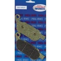 Lyndall Racing Brakes LRB-7257-G Gold-Plus Brake Pads for Rear on Softail/Dyna 08-17