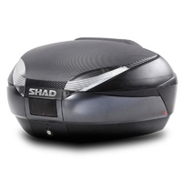Shad SH48 Top Case w/Bonus Backrest & Carbon Panel Black/Carbon 48L
