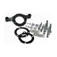 DNA Specialty Air Cleaner Support Mount Bracket Black C.V & Mikuni Carb (up to 110ci) Fits Harley Davidson