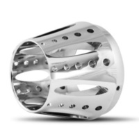 DNA Specialty Exhaust Zero Style End Cap Chrome Fits Harley Davidson or Custom Use