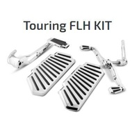 DNA Specialty Floorboard Set Chrome Fl Touring 97-13 Fits Harley Davidson