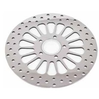 "DNA Specialty Super Spoke Front Brake Rotor 11.8"" Chrome 84-Up Softail Dyna & Sportster Models Suit Harley Davidson"