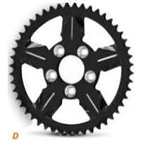 DNA Specialty Icon Sprocket 51t Black Suits Harley Davidson or Custom Use