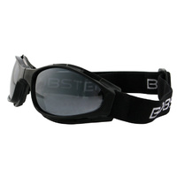 CROSSFIRESM FOLDING GOGGLES BLACK FRAMESMOKE LENSES BOBSTER EYEWEAR