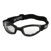 CROSSFIRESM FOLDING GOGGLES BLACK FRAMECLEAR LENSES BOBSTER EYEWEAR
