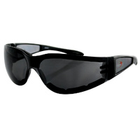 SHIELD II SUNGLASSBLACK FRAME SMOK ED GREY LENS BOBSTER EYEWEAR