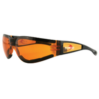 SUNGLASSES BOBSTER SHIELD 2 EYEWEAR BLACK WITH AMBER LENS ALL MOTORCYCLE RIDERS