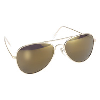 AVIATOR GOLD FRAME WITH GOLD MIRROR LENS MFG#80014