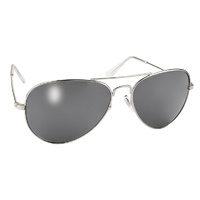 AVIATOR SILVER FRAME WITH  SILVER M IRROR LENS MFG#80010