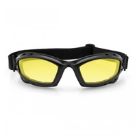 BALA GOGGLES, YELLOW LENS MATTE FRAME, ANTI-FOG LENS 100% UV PROTECTION #BBAL001Y