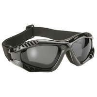 TURBO GOGGLE BLACK FRAME WITH GREY LENS MFG#4001
