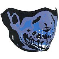 Zanheadgear Neoprene Half Face Mask Blue Skull WNFM024H
