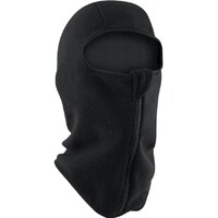 BALACLAVA, BLACK FLEECE WITH FRONT ZIPPER ZANHEADGEAR WBF114Z