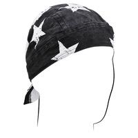 ROAD HOG FLYDANNA,BLACK/WHITE FLAG, 100% COTTON ZANHEADGEAR ZSG091