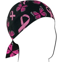 FLYDANNA RIBBON/ BUTTERFLIES 100% COTTON ZANHEADGEAR       ZBC