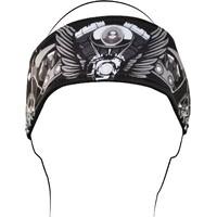 ZAN HEADGEAR DANNA V-TWIN WINGS WIDE HEADBAN SUIT ALL MOTORCYCLE RIDER