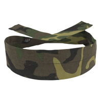COOLDANNA HEAD AND NECK TIE 100% COTTON, WOODLAND CAMO ZANHEADGEAR D118