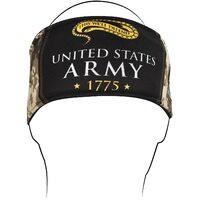 """HEADBAND ARMY CAMO LOGO NYLON/ TER RY CLOTH LINED 35"""" LONG  ZANHEADGEA"""