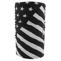 MOTLEY TUBE FLEECE LINED BLACK/WHITE FLAG MICROFLEECE LINING ZANHEADGEAR TF091
