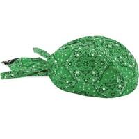 FLYDANNA GREEN PAISLEY 100% COTTON ZANHEADGEAR       Z697
