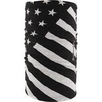 MOTLEY TUBE, BLACK/WHITE FLAG 100% SOFT POLYESTER ZANHEADGEAR T091