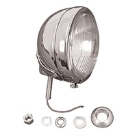 "V-FACTOR SPOTLIGHT & PASSING LIGHT ASY 4-1/2""DIA W/H-3 HALOGEN BULB SAE APPROVED CHROME PLATED"