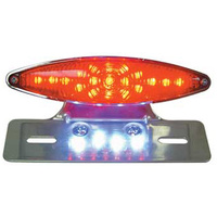 V-FACTOR TAILLIGHT/LIC MT SMALL CATEYE LED TYPE UW/CUSTOM FDRABS LT HOUSING CPALUM LIC MT POL