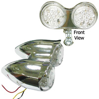 CHROME MARKER/TURN SIGNAL LIGHT FOR ALL MODELS HARLEY OR CUSTOM USE