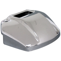 V-FACTOR HEADLIGHT MOUNT COVERW/CUTOUT FOR INDICATOR LIGHTS CHROMED STEEL REPLACES 67871-85T
