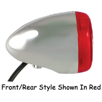 TURN SIGNAL LED FRONT & REAR BLACK FINISH AMBER LEN HARLEY CUSTOM UNIVERSAL