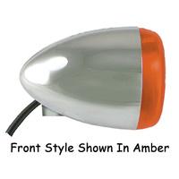 TURN SIGNAL LED FRONT CHROME FINISH AMBER LEN HARLEY CUSTOM UNIVERSAL EACH