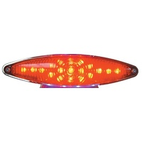 TAILLIGHT LENSRED CATEYE TYPE FITS #11220#11221#11240 & #11241 ONLY